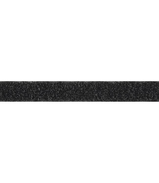 Klittenband 25 mm lus zwart