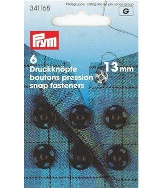Prym Aannaaidrukknopen zwart 13mm