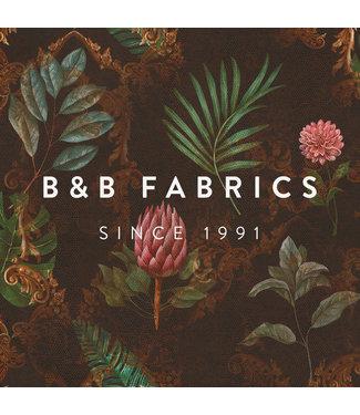 B&B Fabrics Bedrukte Fluweel met Embossing