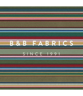 B&B Fabrics Jacquard Double Face Multicolor Stripes
