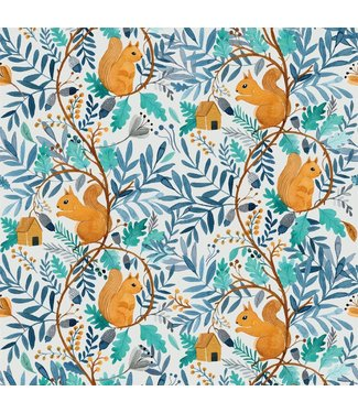 Katia Fabrics Waterproof Squirrel World