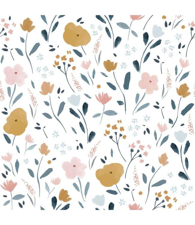 Katia Fabrics Katoen Little Rat Flowers