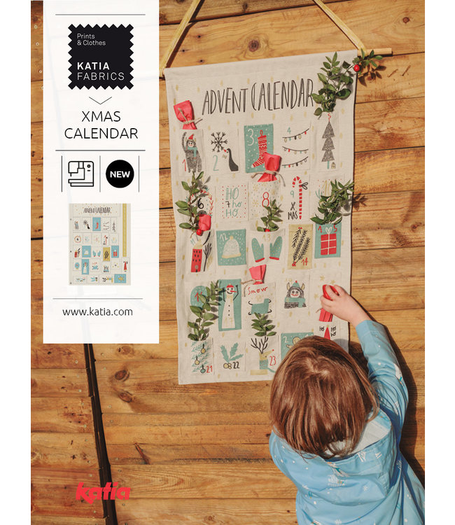 Katia Fabrics Canvas paneel Advent Calendar