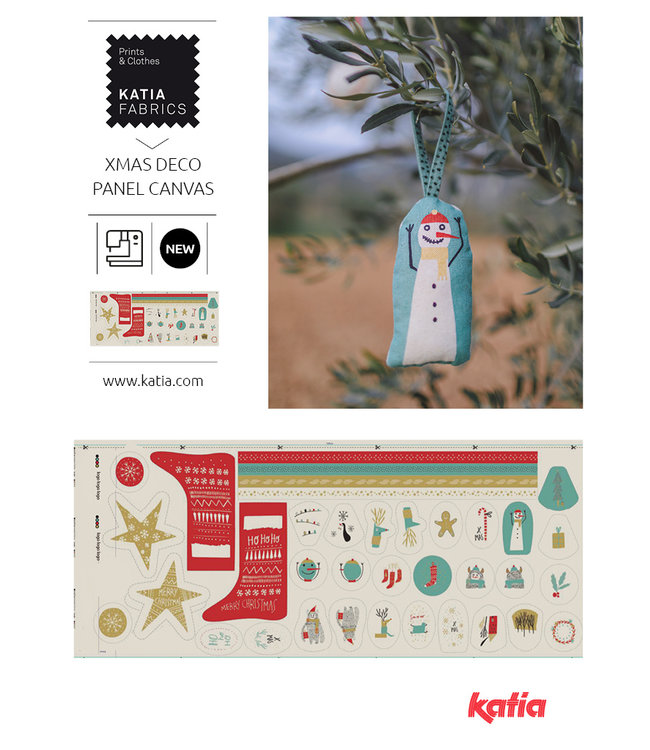 Katia Fabrics Canvas paneel Xmas Deco