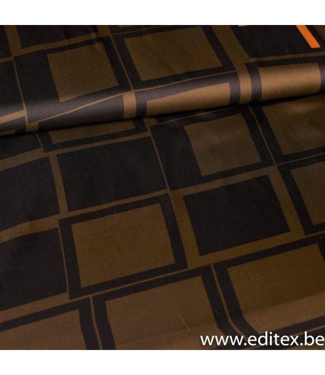 Signature Polyester Satijn Geometrisch