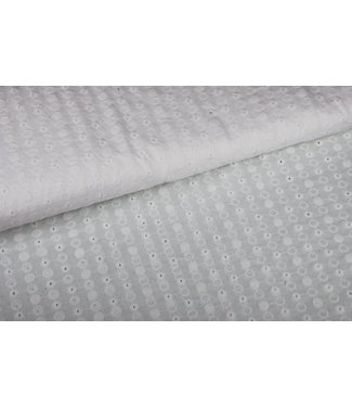 Signature Broderie Dots - White
