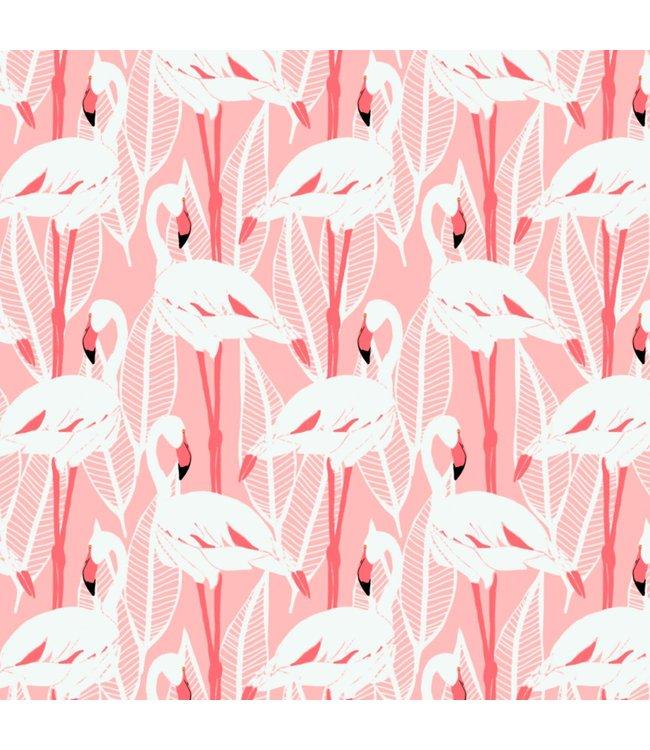 Katia Fabrics Canvas Ecru Flamingos