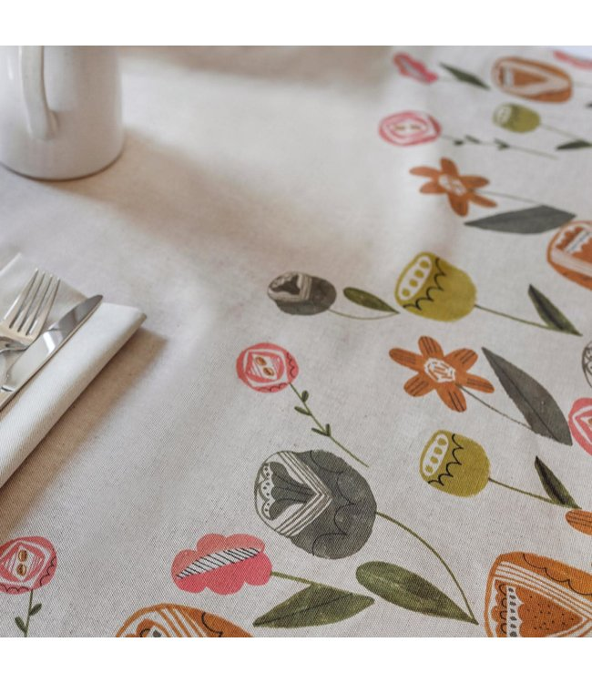 Katia Fabrics Paneel Canvas Waterproof Flowers