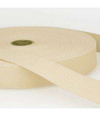 Tassenband 40mm Katoen Ecru