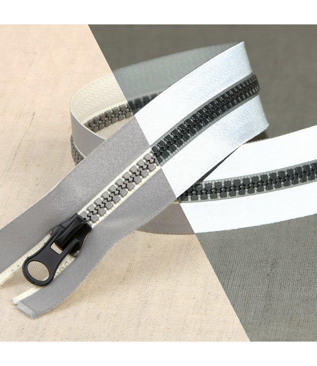 Mediac Reflecterende deelbare rits 70 cm