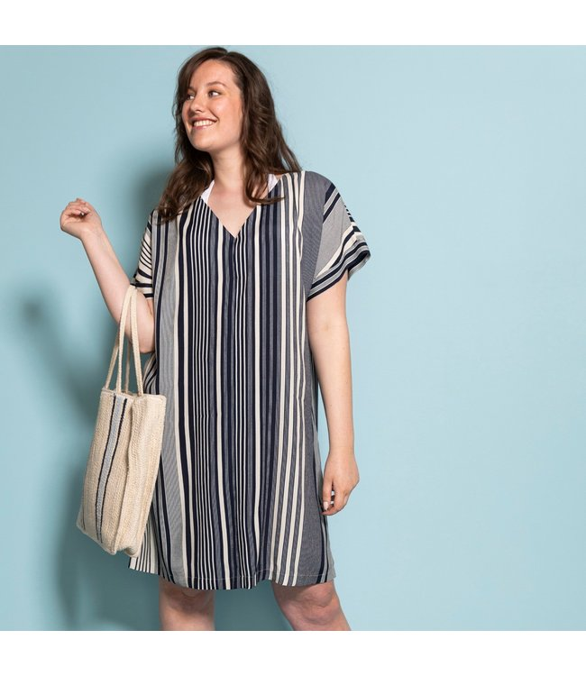 La Maison Victor Viscose Blue & White Stripes - Sia