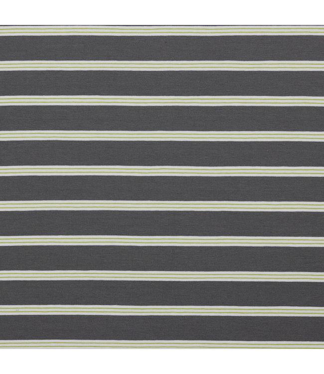Poppy Jersey Stripe Grey