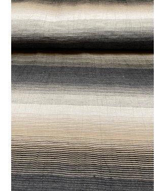 A La Ville Degradé lines black & beige