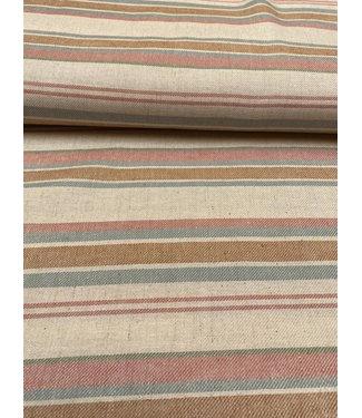 A La Ville Linnen-viscose Stripes Pink & Blue
