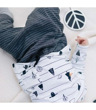 Katia Fabrics Jersey Black Sheep Stripes