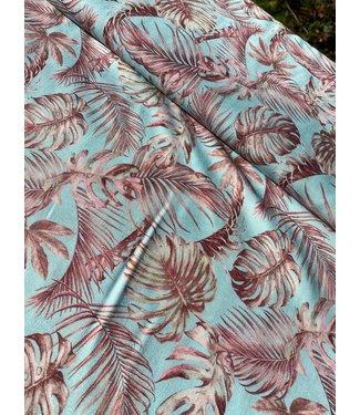 Signature Viscose Blue Palm Leaves