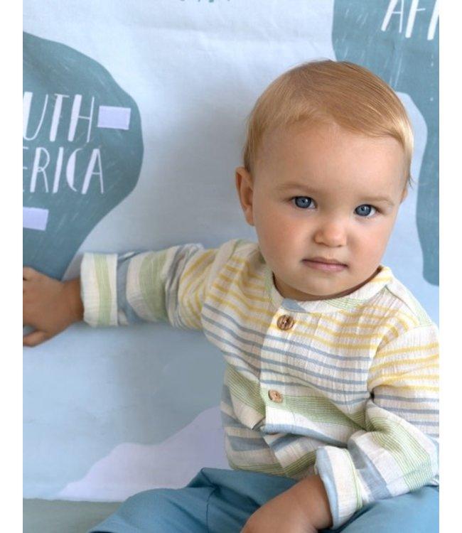 Katia Fabrics Panama Stripes Green