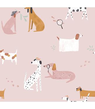 Katia Fabrics Katoen Home Detective Dogs