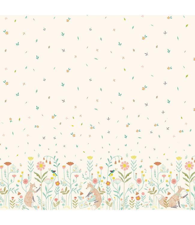 Katia Fabrics Katoen Paneel Botanist Foxes