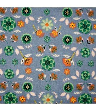Katia Fabrics Katoen Halloween Flowers