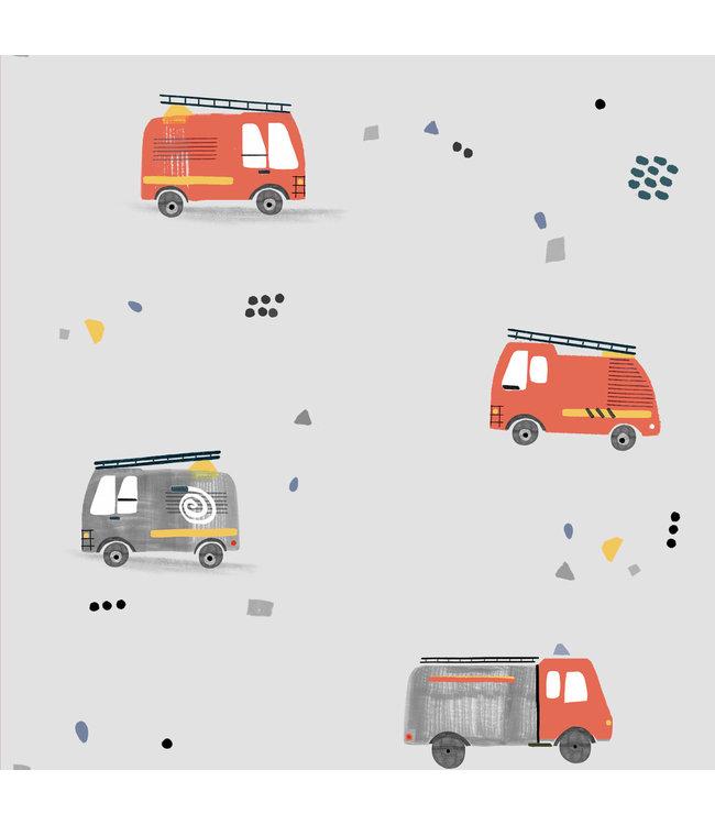 Katia Fabrics Katoen Firefighters Cars