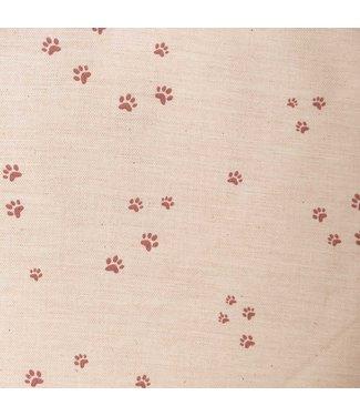 Katia Fabrics Viyella Foot Print Pink