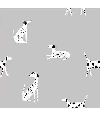 Katia Fabrics Softshell Home Detectives Dalmatians