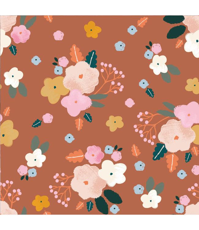 Katia Fabrics Ecovero Best Friends Flower
