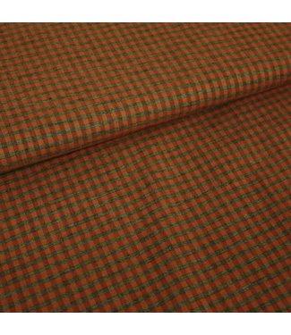 Signature Geweven ruit grijs - oranje