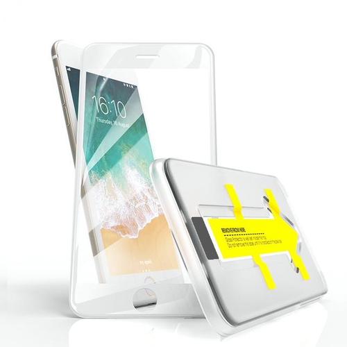 Outletshoponline.nl iPhone SE2020/8/7/6 screenprotector wit met Easy applicator