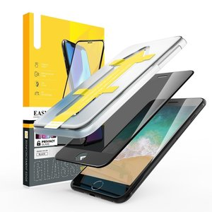 Outletshoponline.nl 8/7/6 Plus iPhone privacy screenprotector met Easy applicator