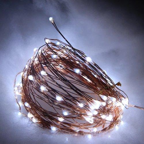 Outletshoponline.nl Solar lichtsnoer 100 LED 12 m - koud wit