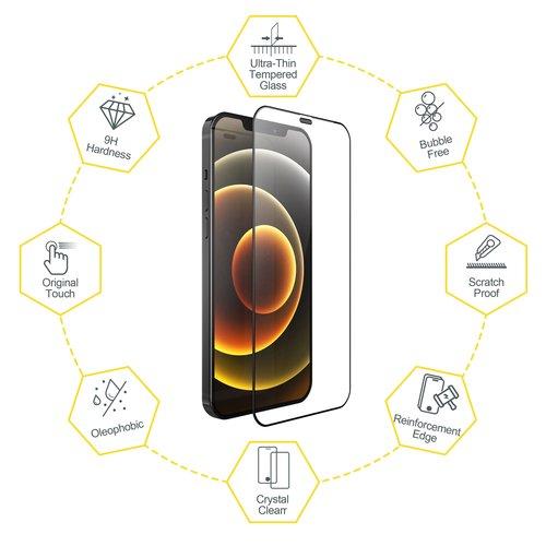 Outletshoponline.nl Screenprotector iPhone  12 Mini met Easy applicator