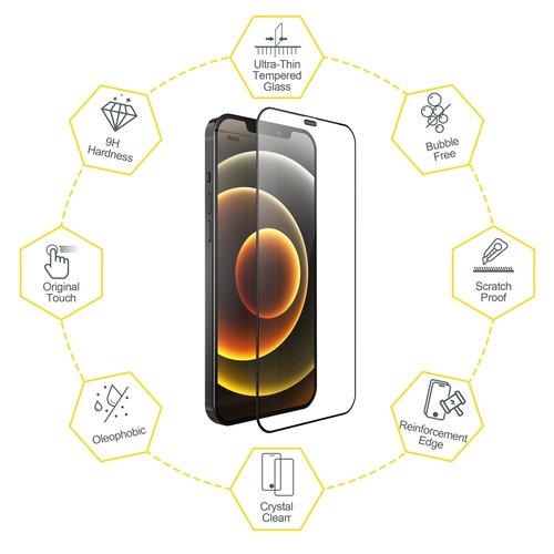 Outletshoponline.nl Screenprotector iPhone 12 Pro Max met Easy applicator