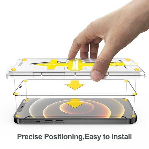 Outletshoponline.nl Screenprotector iPhone  12 en 12 Pro met Easy applicator - Copy