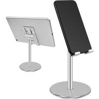 Telefoon -en tablet houder universeel zilver
