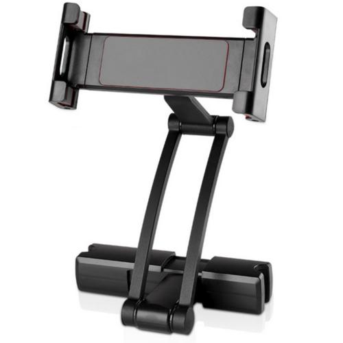 Outletshoponline.nl Tablethouder auto hoofdsteun - universeel - voor schermen 16 - 26 cm - zwart - 360 graden kantelbaar - met draaiarm - voor tablet - telefoon/smartphone - iPad - hoge kwaliteit