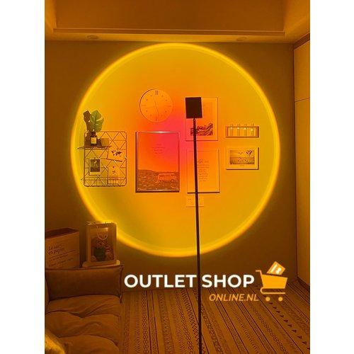 Outletshoponline.nl Sunset staande vloerlamp - projectielamp zonsondergang - 160 cm - Sunset geel - premium kwaliteit - sfeerverlichting - foto shoot