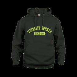 Vitality Sports Hoodie Zwart (5,- cash back voor club)