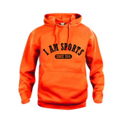 I am Sports  Hoodie Oranje (5,- cash back voor club)