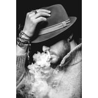 Mysterious smoking man