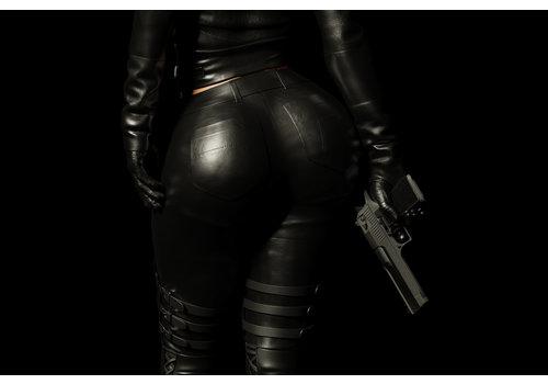Dutch Art Explosion Sexy female Assassin
