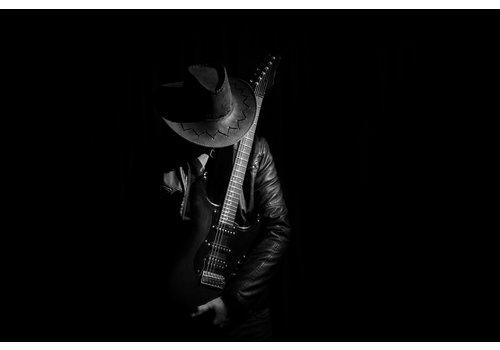 Dutch Art Explosion Guitarist in the dark