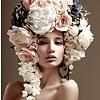 Dutch Art Explosion Flower hairstyle