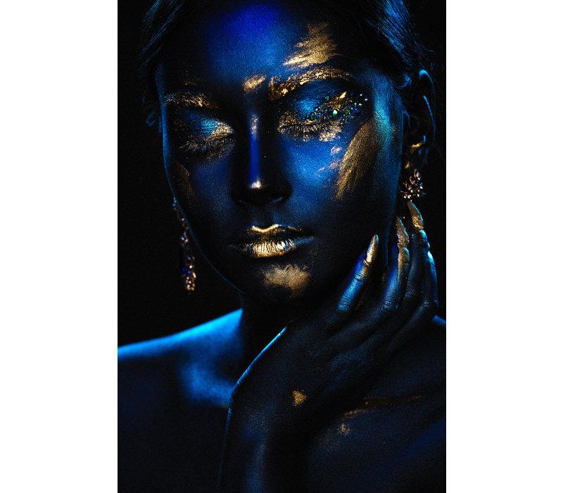Blue x gold