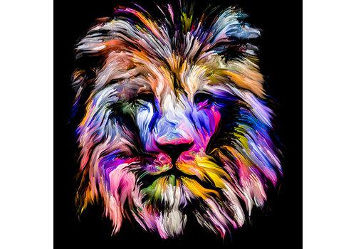 Dutch Art Explosion Colorful lion