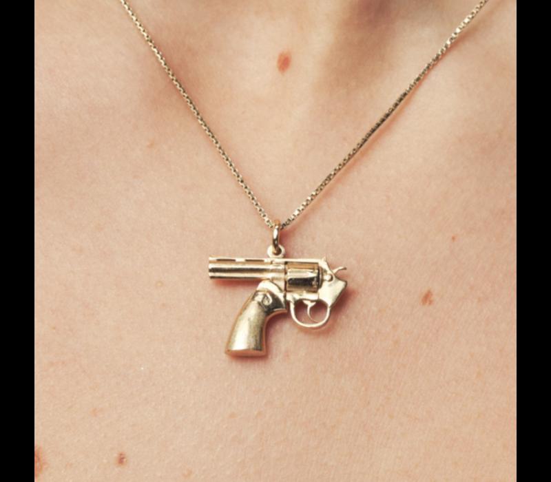 Ketting Karma Gun - Full Massive Silver