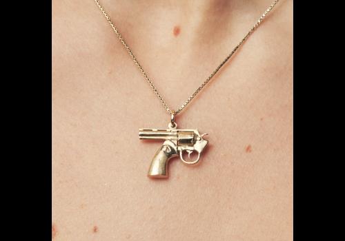 Remon van Zoggel Necklace Karma Gun- 14 KT Full Massive Gold