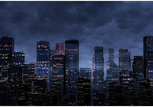 Dutch Art Explosion Skyline by night