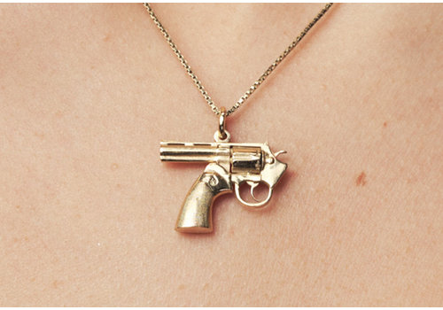 Remon van Zoggel Kette Karma Gun - 14KT Vergoldetes Gold